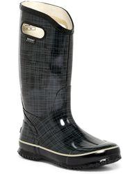 Bogs - Waterproof Linen Printed Rain Boot - Lyst