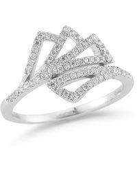 Dana Rebecca - 14k White Gold Aria Selene Diamond Ring - Size 7 - 0.30 Ctw - Lyst