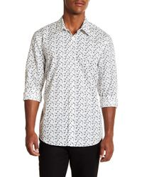 Perry Ellis - Confetti Slim Fit Long Sleeve Woven Shirt - Lyst