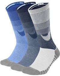 Lyst - Nike Dri-fit Performance Cushioned Crew Socks - Pack Of 3 in