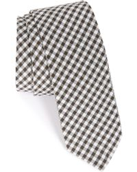 1901 | 'dutra' Gingham Seersucker Cotton Tie | Lyst