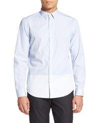 Vince - Melrose Trim Fit Engineer Stripe Sport Shirt - Lyst