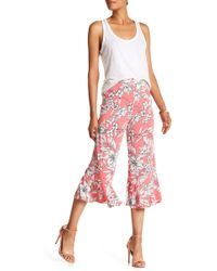 Eci - Floral Print Wide Leg Pants - Lyst