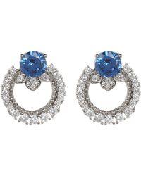 Marchesa - Pe Cz Link Button Earrings - Lyst