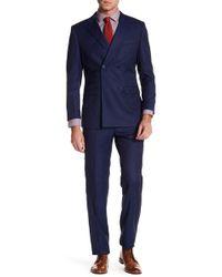 English Laundry - Blue Windowpane Two Button Notch Lapel Trim Fit Suit - Lyst