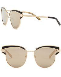b05d3ca967b Lyst - Karen Walker Super Duper Superstars Sunglasses Black in Metallic