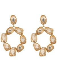 Tory Burch - Stone Abstract Wreath Clip On Earrings - Lyst