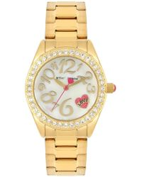 Betsey Johnson - Women's Bedazzled Love Watch, 31.5mm - Lyst