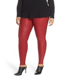 669f1fe22e656 Guess Faux-leather Snake-detail Leggings in Red - Lyst