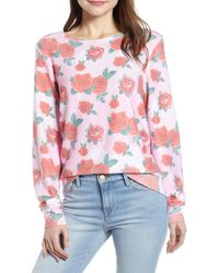 Wildfox - Baggy Beach Sweater - Roses Pullover - Lyst