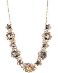 Marchesa - Metallic Crystal Frontal Necklace - Lyst