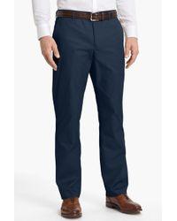 "Bonobos - Blue Woven Regular Fit Flat Front Cotton Trouser - 30-36"" Inseam - Lyst"