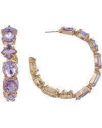 BaubleBar - Isadora Crystal Embellished Hoops - Lyst