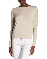 Go Couture - Long Sleeve V-back Pullover Top - Lyst