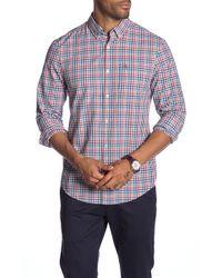 Original Penguin - Mini Plaid Long Sleeve Heritage Slim Fit Shirt - Lyst