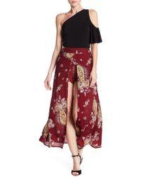 Love, Fire - Walk Through Floral Print Maxi Skirt - Lyst