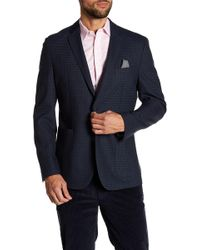 Vince Camuto - Houndstooth Notch Collar Double Button Blazer - Lyst