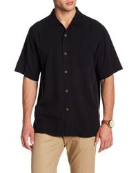 Tommy Bahama - Short Sleeve Tiki Palm Silk Original Fit Shirt - Lyst