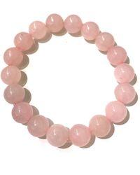Charlene K | Rose Quartz Gemstone Bracelet | Lyst