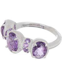 Judith Ripka - Sterling Silver Mardi Gras Multi-gemstone Ring - Size 7 - Lyst
