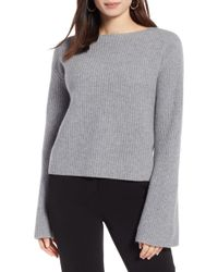 Halogen - Bell Sleeve Cashmere Sweater (petite) - Lyst