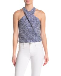 Ramy Brook - Leighton Textured Halter Neck Tank Top - Lyst