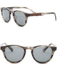 Shwood - Men's Francis Polarized 48mm Round Sunglasses - Lyst
