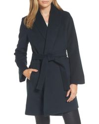 Tahari - Gabrielle Wool Blend Long Wrap Coat - Lyst