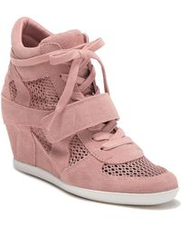6573e83706ce Ash - Bowie Suede Perforated Wedge Sneaker - Lyst
