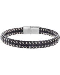Ben Sherman - Wired Faux Leather Bracelet - Lyst