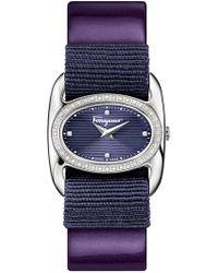 Ferragamo - Women's Varina Diamond Accent Swiss Quartz Watch, 26mm X 27mm - 0.20 Ctw - Lyst