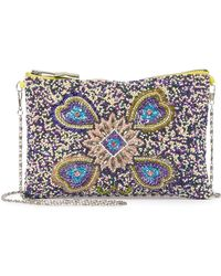 G-Lish - Beaded Pattern Zip-top Clutch - Lyst