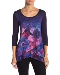 Desigual - Long Sleeve Print Blouse - Lyst