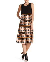 Olive & Oak - Cameron Midi Print Dress - Lyst