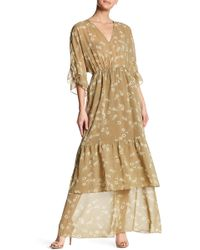 BCBGeneration - Kimono Sleeve Ruffle Maxi Dress - Lyst