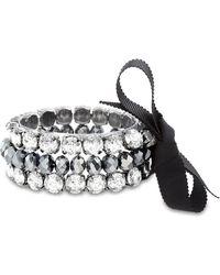 Catherine Malandrino - Crystal & Beaded 3-row Stretch Bracelet Set - Lyst