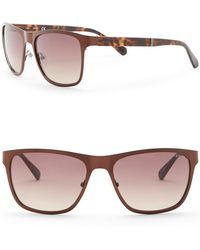 Guess - 57mm Rectangle Sunglasses - Lyst