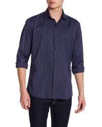 Jared Lang - Stripe Woven Shirt - Lyst