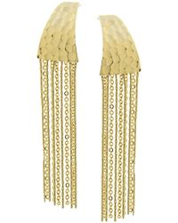 1928 - Hammered Chain Linear Earrings - Lyst