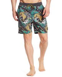 Neff - Danger Leopard Swim Trunks - Lyst