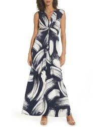 Eliza J - Front Knot Jersey Maxi Dress - Lyst