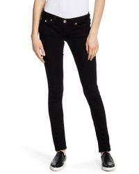 True Religion - Sequin Embroidered Skinny Jeans - Lyst