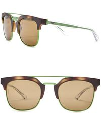 Emporio Armani - Clubmaster 52mm Metal Frame Sunglasses - Lyst