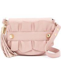 MILLY - Astor Small Ruffle Crossbody Saddle Bag - Lyst