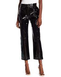 Rag & Bone - Pantent Straight Leg Pants - Lyst