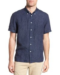 Billy Reid - Leo Standard Fit Short Sleeve Sport Shirt - Lyst
