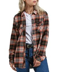 Volcom - Getting Rad Plaid Top - Lyst