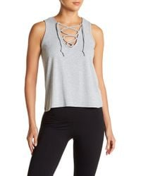Betsey Johnson - Front Lace-up Tank Top - Lyst