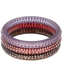 Marc By Marc Jacobs - Glitter Crystal Bangles - Lyst