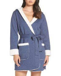 Joe's Jeans - Faux Shearling Lined Fleece Short Robe - Lyst
